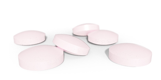 6 pink BioActive B12 tablets